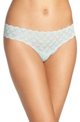 Cosabella Women's Sweet Treats Thong Misty Green