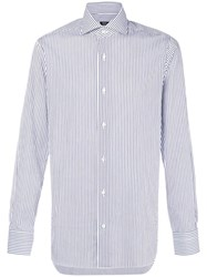 Barba Long Sleeved Shirt Blue