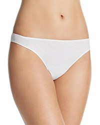 Only Hearts Club Organic Cotton Thong 51163 White