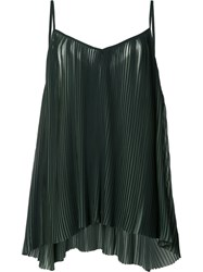 Just Female Pleated Cami Green