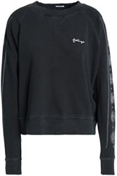 Mother Embroidered Cotton Jersey Sweatshirt Dark Gray