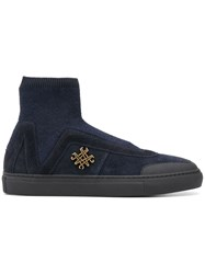 Mr And Mrs Italy Knitted Studio Sneakers Blue