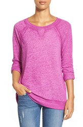 Women's Caslon Burnout Sweatshirt Purple Striking