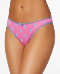 Charter Club Pretty Cotton Thong Only At Macy's Seahorse