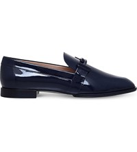 Tod's Cudio Max Doppia Patent Leather Slippers Navy
