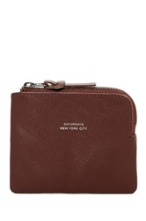 Saturdays Surf Nyc Cash Half Zip Leather Wallet