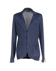 Fred Mello Knitwear Cardigans Men Slate Blue