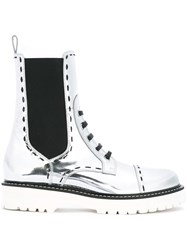 Dolce And Gabbana Utility Boots Metallic