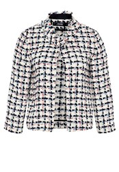 Hallhuber Boxy Boucl Jacket Multi Coloured Multi Coloured