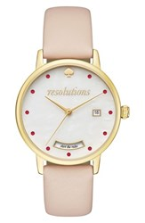 Kate Spade Women's New York Metro Resolution Leather Band Watch 34Mm