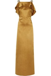 Raoul Cutout Embellished Satin Gown Gold
