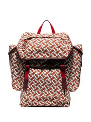 Burberry Logo Check Backpack Red