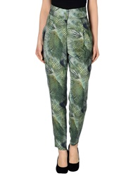 Les Prairies De Paris Casual Pants Green