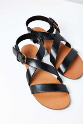 Urban Outfitters Maddie Leather Sandal Black