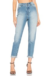 Cheap Monday Donna High Waist Jean Dash Blue
