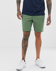 Original Penguin Slim Fit Shorts In Khaki Green Blue
