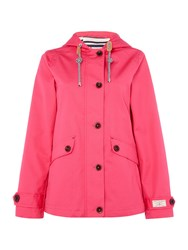 Joules Coast Waterproof Hooded Jacket Pink