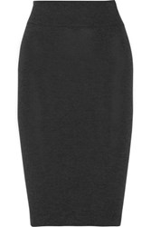 Enza Costa Stretch Jersey Pencil Skirt Charcoal