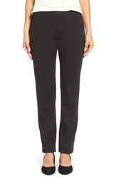 Petite Women's Eileen Fisher Skinny Ponte Pants Charcoal