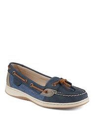 Sperry Dunefish Leather Boat Shoes Navy