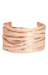 Karine Sultan Women's Angelique Wrist Cuff Rose Gold