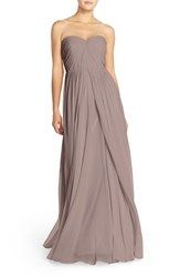 Women's Jenny Yoo 'Mira' Convertible Strapless Pleat Chiffon Gown