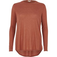 River Island Womens Copper Basic Top