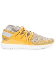 Adidas Primeknit Sneakers Men Polyester Polyethylene Vinyl Acetate Peva 11.5 Yellow Orange