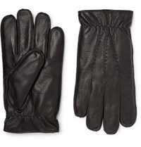 Dents Faux Fur Lined Leather Gloves Black