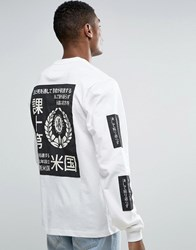 10.Deep 10 Deep Long Sleeve T Shirt With Print Patches White