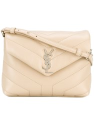 Saint Laurent Monogram Envelope Bag Women Calf Leather One Size Nude Neutrals