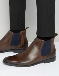 Base London William Leather Chelsea Boots Brown