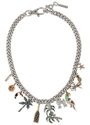 Marc Jacobs Tropical Chain Charm Necklace Multicoloured