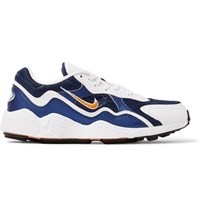 Nike Air Zoom Alpha Mesh And Leather Sneakers Blue