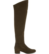 Saint Laurent Babies 40 Thigh High Boots Mid Brown
