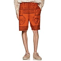 Acne Studios Nejlika Mixed Print Cotton Shorts Orange