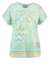 Open End Print Tshirt Jade Turquoise