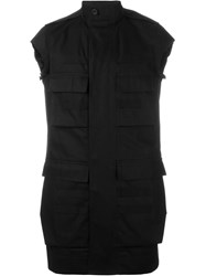 Rick Owens Funnel Neck Gilet Black