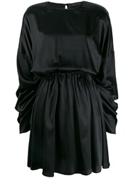 Federica Tosi Ruched Sleeve Dress Black