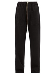Rick Owens Drkshdw Drawstring Cotton Trousers Black