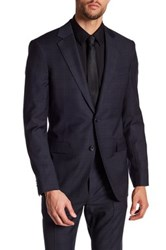 Theory Malcolm Action Two Button Notch Lapel Wool Jacket Blue