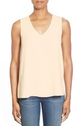 Women's Gibson V Neck Sleeveless High Low Blouse Butter