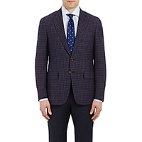 Isaia Men's Checked Gregory Sportcoat Navy