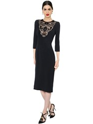 Dolce And Gabbana Cady Dress With Lace Inserts