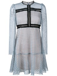 Philosophy Di Lorenzo Serafini Lace Long Sleeve Dress Blue