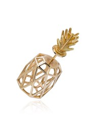 Natasha Zinko Pineapple Earring Metallic