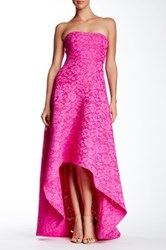 Issue New York Strapless Hi Lo Gown Pink