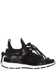 Dsquared Bungy Jump Neoprene And Leather Sneakers