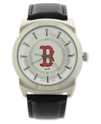 Game Time Pro Men's Boston Red Sox Vintage Watch Black Silver