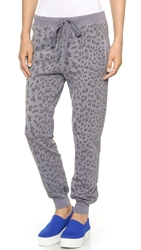 Current Elliott The Slim Vintage Sweatpants Washed Black Leopard